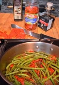 Green Beans with Sweet Red Peppers and Balsamic Vinegar